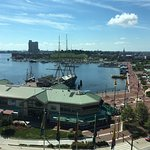 View from 9th floor, corner suite, harbor-side (#9038).