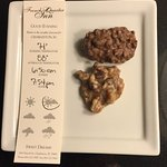 Yummy Pralines and weather information for next day.