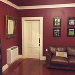 Love the decor in red room! This door leads to the sitting room.