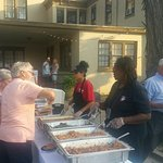 Catering for the New Albany arts council at the Pepin Mansion.