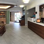 Refurbished lobby with refreshment center