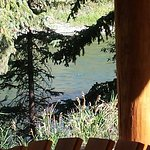 View of the river from our cabin porch