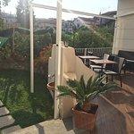 outside terrace for breakfast (before it's set up)