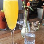 Prosecco mimosa and spicy Bloody Mary