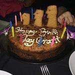 "A ""moai"" cake, baked on the premesis"