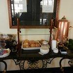 The continental breakfast buffet