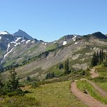 Following the ridgetop towards Mount Baker