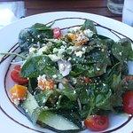 Pumpkin salad with feta