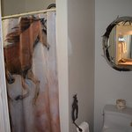 Never had horses in my bathroom before - fun!