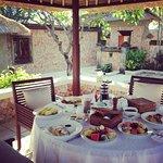 Breakfast in our private garden