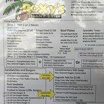 Roxyʻs Island Grill Menu