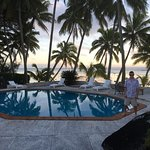 Pool in evening at Sunhaven Beach Bungalows