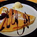 crepe with truffle scented vanilla ice cream