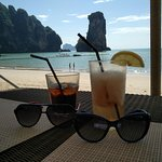 beach view with signature Krabi rocks