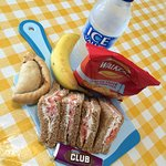 Pack a punch with our packed lunch! Great value after our filling breakfasts. It's proving popul
