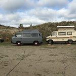 Bulli Platz auf dem Campingplatz Amrum sehr zu empfehlen da man nicht direkt auf dem Gelände ist