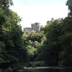View from the river up towards Carew Castle