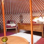 22ft Yurt inside