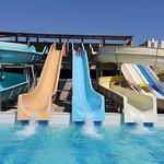 la piscines exterieur tobbogan