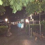 restaurant entrance, 10.30 pm n rain !