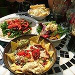 Beanos Vegetarian Cafe Bar - Vegan Nachos, Hummus Roasted Veg Salad + Bean Burger Wrap - Folkest