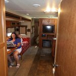 Take from bunk house toward rest of RV