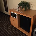 Mini frig and microwave