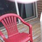 Chair two. As you can see the deck is in need of repair. This is unit H120B