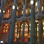 View of the choir seating inside Sagrada Familia