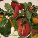 Caprese-style tomatoes and ricotta
