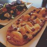 flatbread and salad