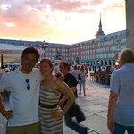 sunset over Madrid
