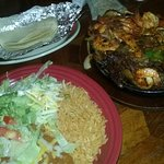 Shrimp and Steak Fajitas!