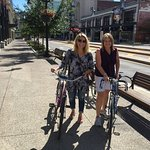 Rented bikes to explore Buffalo - GREAT city!!!