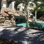 Grotto swim up bar and view from the shaded patio!