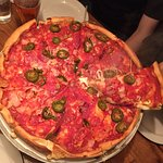 Really really good pizza that is very reasonably priced, however the alcoholic drinks are very e