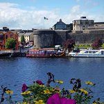 Viking Ship Moored at the castle Athlone