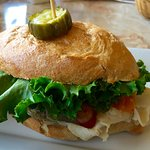 Turkey smoked bacon sandwich