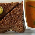 Classic Reuben with Carrot Dill Soup