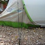 emplacement tente avec sanitaires privés