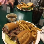 The French Dip was wonderful-- very flavorful! House made root beer was great too . So glad we s