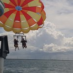 Went parasailing with George & Tristan. It was amazing & beautiful. The guys were super knowledg