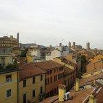 La vista sui tetti di Bologna dalla camera