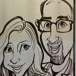 This free caricature was done by one of their staff artists while we waited for our entrees