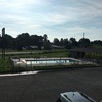 Parkland pool at morning