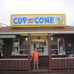 The outside of Cup and Cone