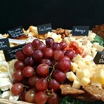 Wonderful fruit,cheese, meat trays!
