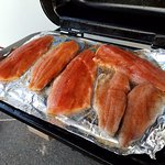 Two Kokanee and one Trout for dinner--awesome!