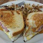 Ham and Cheese Breakfast Sandwhich