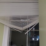 Broken venetian blinds
